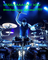 Who touched my drums XD by AiridAndMewtwo