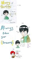 Rock Lee and Gai Birthday Card by Guinnygirl