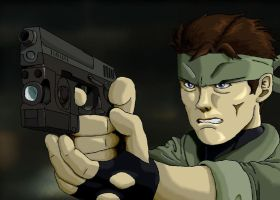 Young Solid Snake by SuperDouma