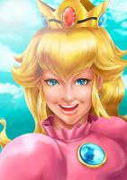 Portrait: Princess Peach by MaycolBueno