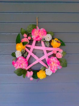 spring pentacle wreath by DarkZoneRomana