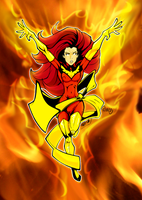 Jean Grey Phoenix colors by gz12wk