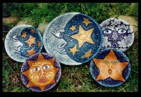 Celestial Series Carved Bowls by ReincarnationsPF