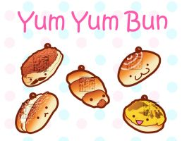 Chinese baked bun charms by MaeMaeTwin