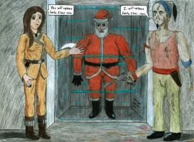 Kat Ryiah saves Christmas by Zoe-the-Pink-Ranger