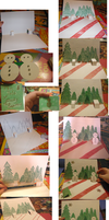 HolidayCardProject- My Card by Steps by BaconRainbow