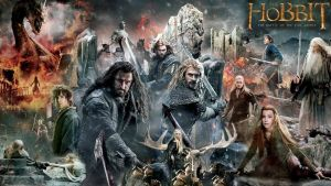 all-in-one Hobbit BOTFA banner wallpaper by ponyhallo1