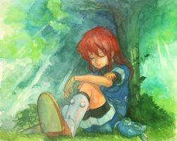 GRANDIA -rest under that tree- by Lio-garakuta