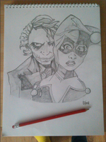 Joker And harley by JustMeMerel
