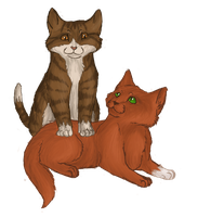 Squirrelkit and Leafkit by phyti