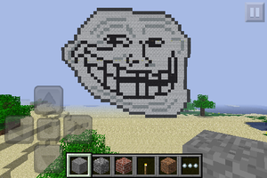 Minecraft Art: Troll Face by GodofDarness18
