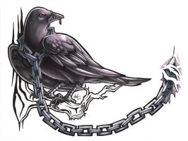 Raven Tattoo by extinctinks