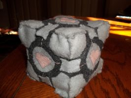The Plush Weighted Companion Cube by TheWaffleFox