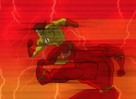 Flsh and Kid Flash by DCarelli