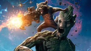 Groot and Rocket Raccoon by vgwallpapers