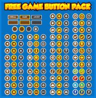 Free Medieval Game Button Pack by pzUH