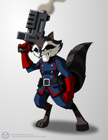 Rocket Raccoon by KrisSmithDW
