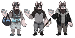 Chibi Outfit Ref: Ghost by odvunir