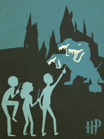 Harry Potter Minimalist Poster by CozICan