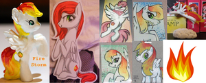 Fire Storm Collage by lcponymerch