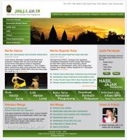 Jogja Gov website by astayoga