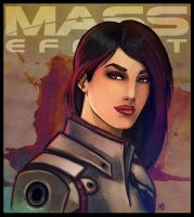 Mass Effect - Ashley Williams by lux-rocha
