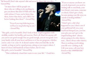 Gerard Way Quotes Wallpaper by RomancedWithWhispers