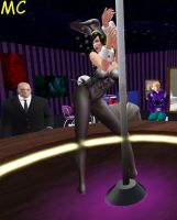 Bunny Lane Dances At Club Luthor by The-Mind-Controller