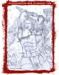 Nersei (Sketch) Barbarian warrior by RU-MOR
