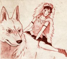 Princess Mononoke by vivsters