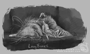Sketch: Lazy Bones by Noukah