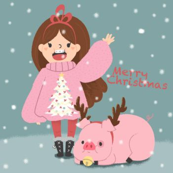 A Mabel and Waddles Christmas by pronouncedyou