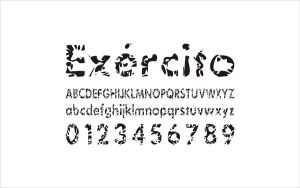 Exercito font concept by Bebecca