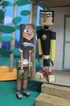 Duncan and Courtney from Total Drama in Papercraft by ViluVector