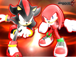 Knuckles and Shadow Wallpaper by CreamFireballWPS