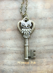 Heirloom Gold Owl Key by MythicalFolk