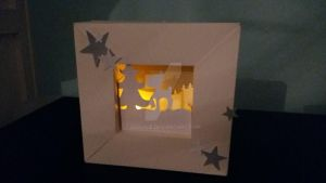Paperframe with Deer and Light by LeoLilie