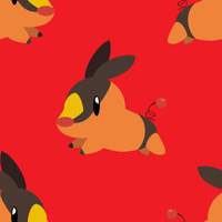 Tepig Tile Background by BuizelKnight