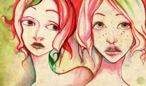 Watercolour Girls by Midnight-cat
