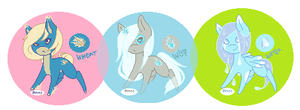 Simple pony adopts W -CLOSED- by SelfishBlood