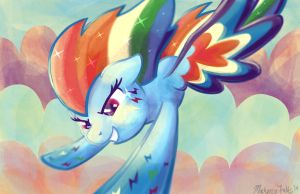 Rainbow Dash Rainbow Power by GhostlyMuse