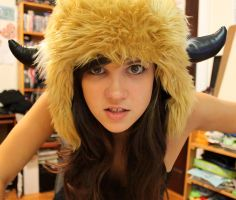 Antlered Monster Hat by loveandasandwich