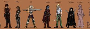 Heroes of Tamriel -COLORED- by UninvitedChaos