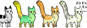 25 Points Cat Adoptables (open) by PrePAWSterous