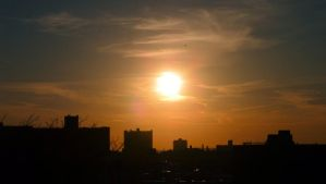 Setting Sun over Coney Island by LordNobleheart