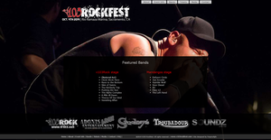 V103 Rockfest Website by fireproofgfx