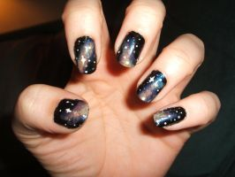 Galaxy nails by lettym