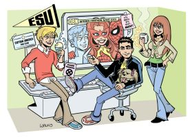 Spider-Man and Friends by BillWalko
