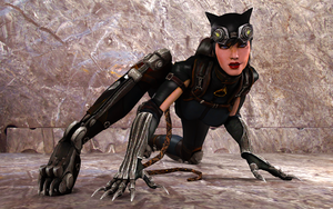 Injustice Gods Among Us - Catwoman Crawl by IshikaHiruma