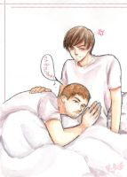 Kangteuk with baby by kasumivy